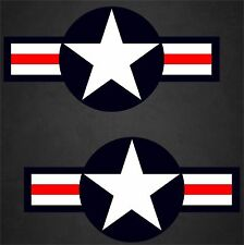 "2 - 23""x47"" USAF Aircraft Insignia Sticker Military Decal Air Force Pilot Vet"