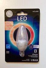 GE LED Soft White 4W 300 Lumens LED BC Candelabra Base 1 Bulb *New/Sealed*