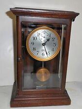 ANTIQUE WOOD CASE POOLE ELECTROMAGNETIC MANTLE CLOCK ITHACA NEW YORK