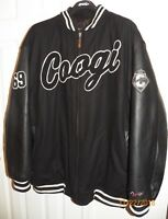 Coogi Wool & Leather Sleeve Varsity 1969 world Champs Jacket Men's 3XL Insulated