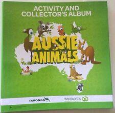 Woolworth Aussie animal card 108 set & album (green