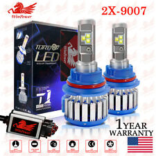 2PCS 9007 HB5 LED Headlight Conversion Kit 6000K 70W 14400LM High-Low Beam Bulbs