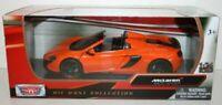 McLaren 650S Spider - Orange, Classic Metal Model Car, Motormax 1/24