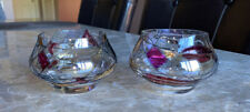 PartyLite Mosaic Glass Candle 2 Holders Tea Light