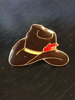 Vintage Colorful Cowboy Hat Metal Pin Back Lapel Pin Hat Pin