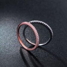 Schmaler Damen Ring Half Eternity echt Sterlingsilber 925 Zirkonia 43-64 dünn