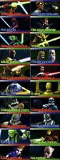 STAR WARS CLONE WARS WIDEVISION CHARACTER FOIL SET (20)