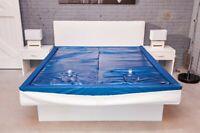 EN71 Wasserbettmatratze dual Wasserbett Wasserkern (alle Größen) + Pflegeset