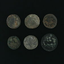 Ancient Coins Roman Artifacts Figural Mixed Lot of 6 B6439