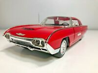 1963 Ford Thunderbird Tbird 1/18 Scale ANSO Die Cast Car model man cave red :