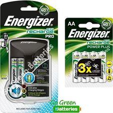 Energizer Pro AA/AAA Cargador Inteligente + 8 Pilas Recargables Aa 2000 mAh