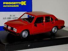 ALFA ROMEO ALFETTA 2000 STRADALE 1977 ROSSO / RED  PROGETTO PK240 1:43