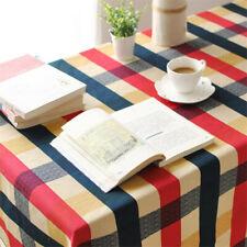 Table Cloth Mediterranean Plaid Cotton Table Cloth Fresh Leaf Flower Home Hotel