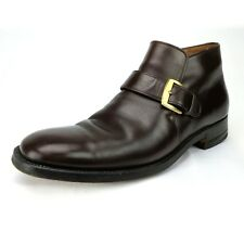 Vintage Kow Hoo Shoe Co. Bespoke Monk Strap Ankle Dress Boot Mens Size 7.5 D