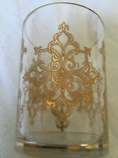 SAINT LOUIS WINE GOLD GILT FLAT TUMBLER GLASS GOBELET CRISTAL GRAVÉ OR DORÉ AI