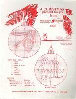 Lot 6 Cross Stitch Promotional Pattern Leaflets Golden Needle Christmas Burdett