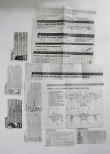 GI JOE 1980'S PHOTO COPIES OF 7 BLUEPRINTS & 8 FILE CARDS ONE SIDED