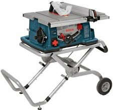 "NEW BOSCH 4100-09 ELECTRIC 10"" 15 AMP 4 HP TABLE SAW & WHEELED STAND 3586104"