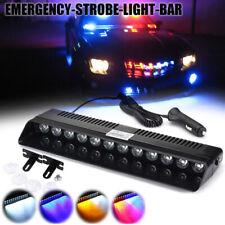1PCS 12LED Car Strobe Light Signal Lamps Leds Red Blue Flashing Police 12V