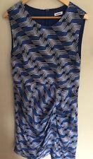 MARCS Size 12-14 Blue Silk Drape Dress