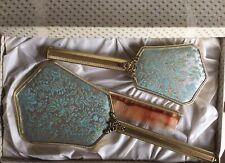 VINTAGE VANITY DRESSING TABLE SET IN ORIGINAL BOX BRUSH COMB MIRROR EX CONDITION