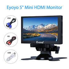 """5"""" Small HDMI VGA BNC Monitor 800x480 Car Rear View Security TFT LCD  400cd/㎡"""
