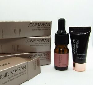 Josie Maran 100% Pure Argan Oil Lot of 4 samples & face butter 0.15 fl oz/4.5ml