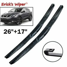 "For Nissan Qashqai J11 2014 - 2017 2016 Front Windshield Wiper Blades Kit 26""17"""