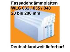 Styropor Styropor Fassadendämmplatte Dämmung Fassade EPS 040-80mm Wärmedämmung W