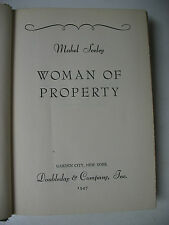 """""""Woman Of Property"""" Mabel Seeley Hardcover Book 1947 Fiction Novel"""
