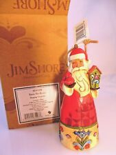 "Jim Shore, BIRDHOUSE SANTA, Heartwood Creek  (#4041108) NEW IN BOX, 2014, 4.5"" T"