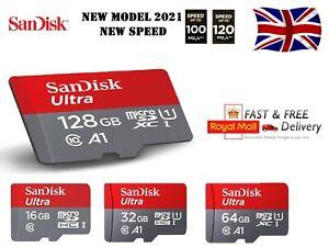 SanDisk Ultra Micro SD 32GB 64GB 128GB Class 10 SDHC SDXC Memory Card + Adapter