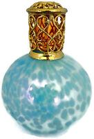 Hallmark Blue Blown Art Glass Catalytic Fragrance Aromatherapy Oil Lamp No Wick