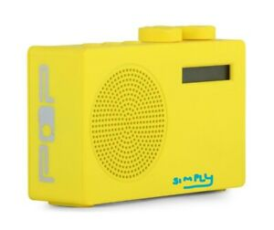 Pop Original DAB+/FM Portable Digital Radio Yellow 3.5 mm Monotone With Speaker
