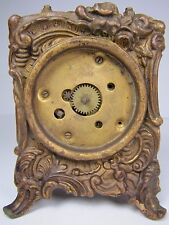 Antique Bronze ART NOUVEAU CLOCK Base Ornate High Relief Restore Parts Repurpose