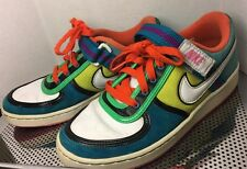 Nike 6.0 2009? Vtg Teal Suede & White Leather Swoosh Neon colors Size 7.5 Woman