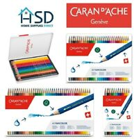 Caran d'Ache Fancolor Water Soluble Artist Sketching Colour Pencil Metal Tin Set