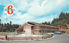 KELSO, WA  Washington      MOTEL 6    Pool & VW Van     Roadside Postcard