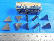 10pc New Wit O Matic Tpg 432 K 68 Inserts Cnc Tooling Machinist Shop Tools