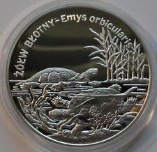 20 ZL ZLOTYCH POLAND POLEN 2002  Proof Silver 925 POND TURTLE