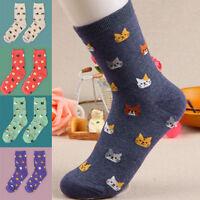Cute Women Fashion Lovely Animal Cartoon Cat Socks Cotton Socks 5 Colors 1 Pair