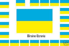 Assortiment lot de25 autocollants Vinyle stickers drapeau Ukraine-Ucrania