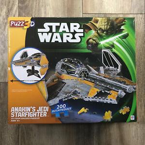 Star Wars Puzz3D Anakin's Jedi Starfighter Foam Backed 3D Puzzle Milton HTF NEW!