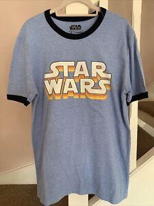 Retro Vintage Star Wars T Shirt Size Medium VGC Geek Gamer Sci-fi Disney