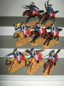 Timpo cavalry 2nd series set of 8 in 8 poses mounted vg/ cond set no 2