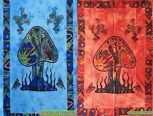 2 piece Mushroom Tapestry Bohomen Indian Wall Hanging Wholesale (77cmX102cm)TR-4