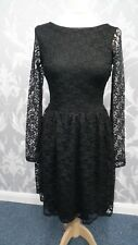 Black lace Short Dress with long Sleeves from Oasis size Small