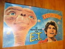 VINTAGE RARE GREEK BOARD GAME - THE E.T. ADVENTURES -SPIELBERG MOVIE FROM 80s