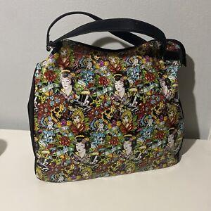 Christian Audigier Ed Hardy Tote Bag Geisha True to Love Large Bag Travel