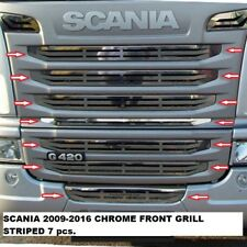 Scania G420 G440 Chrome Front Grill 9 pcs Stainless Steel 2009-2016